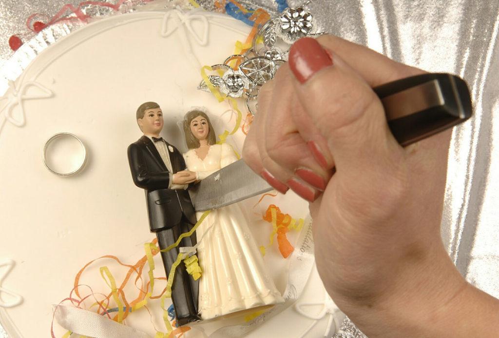 как заполнить заявление на развод через интернет